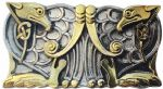 Gold & Silver Plated Celtic Birds Belt Buckle with display stand. Code BH5